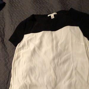 Banana Republic black and ivory blouse